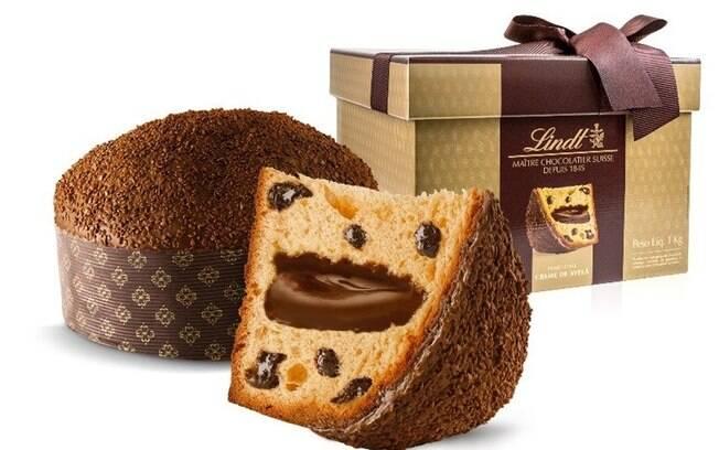 Panetone Lindt Gotas de Chocolate e Creme de Avelã - 1 kg - R$ 119