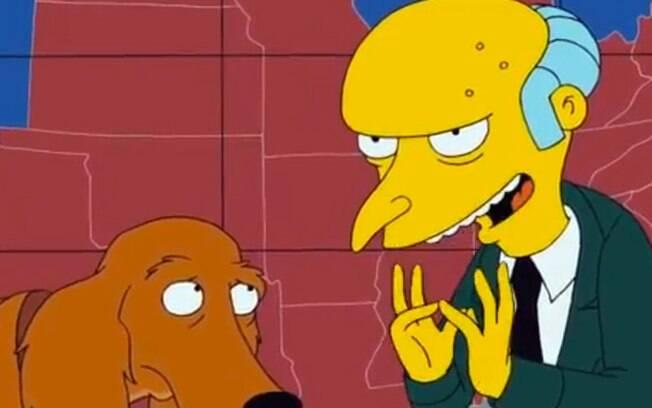 Mr Burns, o chefe chato de Homer Simpson em Os Simpsons. Foto: Reprodução