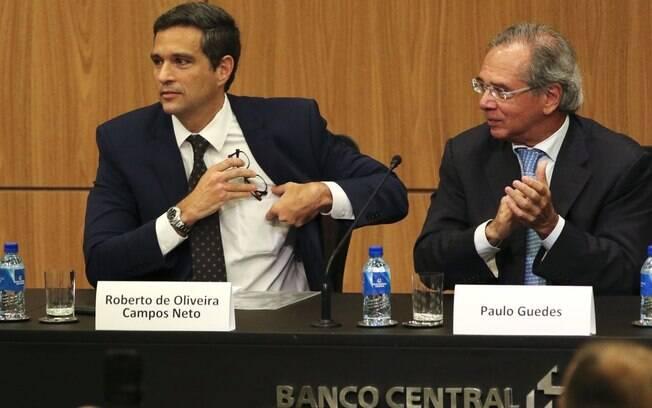 Roberto Campos Neto, presidente do Banco Central, e Paulo Guedes, ministro da Economia