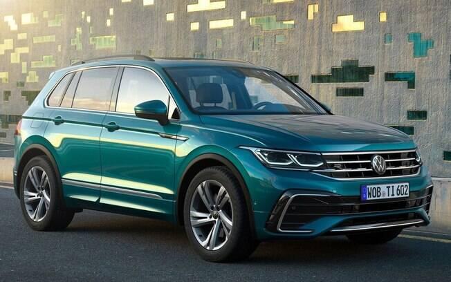 VW Tiguan ganha nova frente e fica mais próximo da linguagem visual dos lançamentos mais recentes da marca no mundo