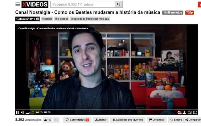 Youtuber Felipe Castanhari teve vídeos colocados em site pornô