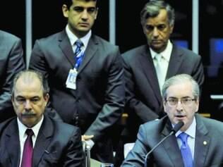 """Discreto. Eduardo Cunha conversou com Dilma, mas não disse o teor, apenas revelou que ela foi """"gentil"""""""