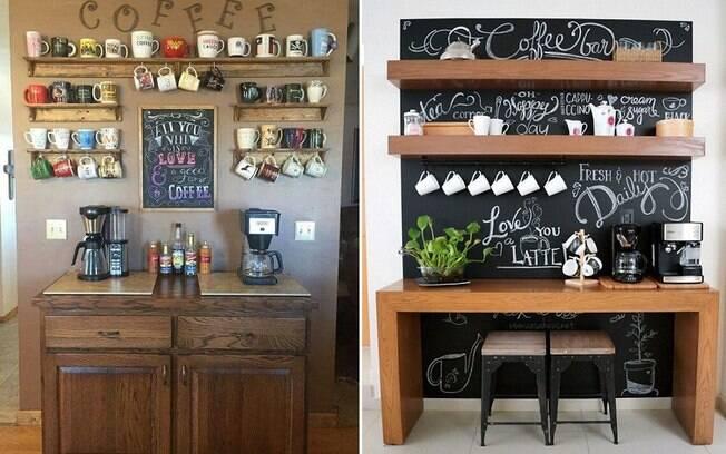 Se você ama café, criar um cantinho para fazer e tomar a bebida em casa pode ser uma boa ideia