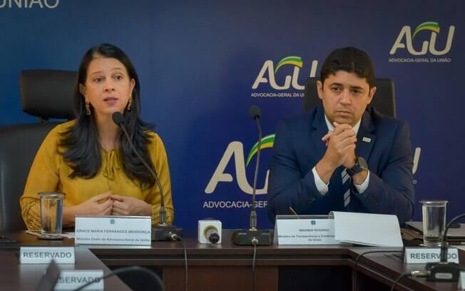 Ministros Grace Mendonça e Wagner Rosário explicaram o acordo de leniência da Andrade Gutierrez