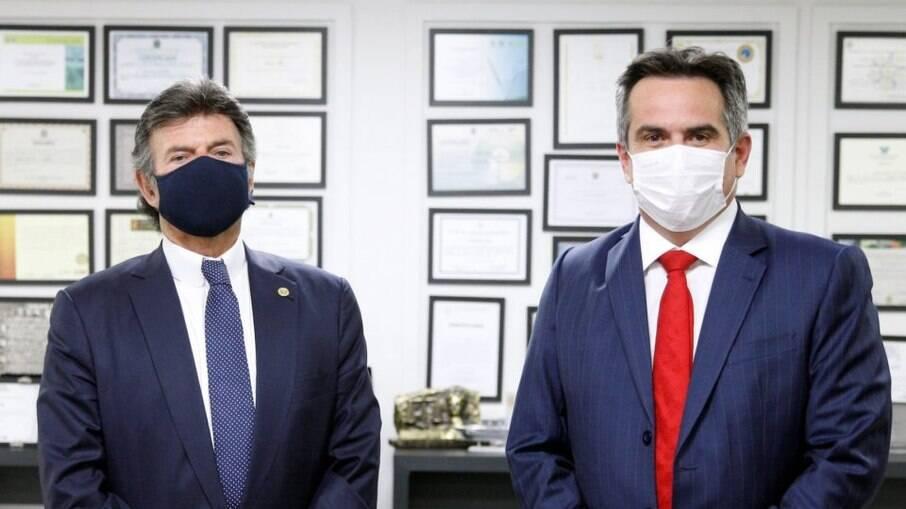 O presidente do Supremo Tribunal Federal (STF), Luiz Fux, em audiência com o ministro-chefe da Casa Civil, Ciro Nogueira: busca por diálogo entre Corte e Presidência