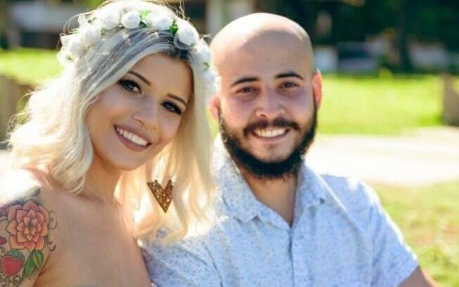 Guilherme usou a brincadeira do gemidão do WhatsApp para surpreender Danielle durante a cerimônia de casamento