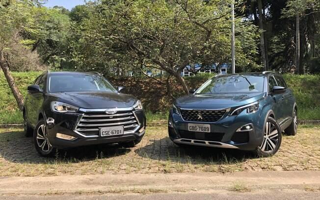 JAC T80 e  Peugeot 5008 são SUVs com desenho arrojado, mas nesse quesito o modelo da marca francesa é mais arrojado