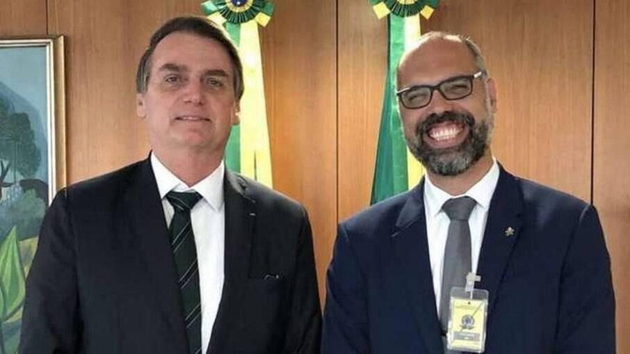 Jair Bolsonaro e Allan dos Santos