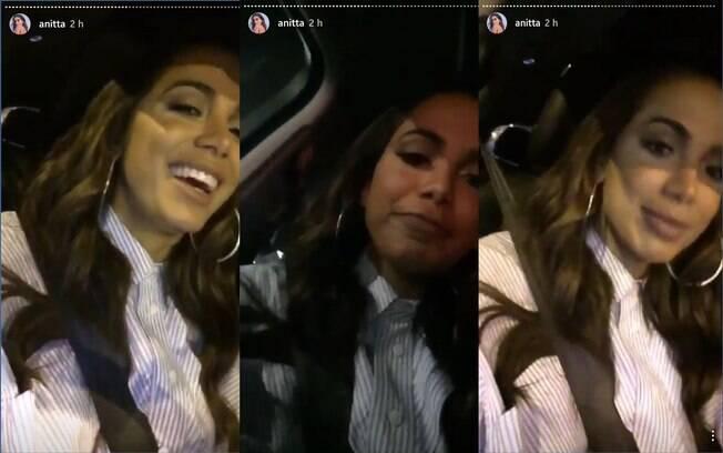 Anitta, mais uma vez, compartilhou o dia a dia em LA com os fãs pelo Instagram