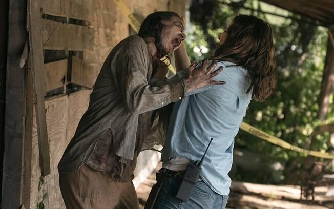 Cena do terceiro episódio de The Walking Dead, em que Maggie tem uma epifania que pode mudar a balança de forças