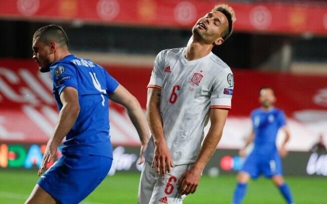 Espanha ficou no empate com a Grécia
