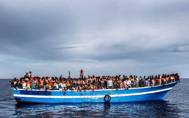 Segundo estimativa da Acnur, a cada 88 imigrantes que tentaram entrar na Europa neste ano, um morreu