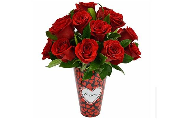 Amoroso com Rosas Colombianas no Vaso; Por: R$ 266,90 em até 3x de R$ 59,50