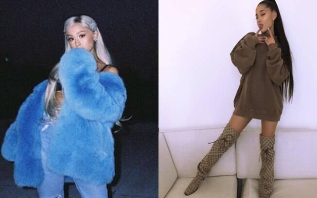 Ariana Grande é uma das famosas que mudaram o visual em 2018