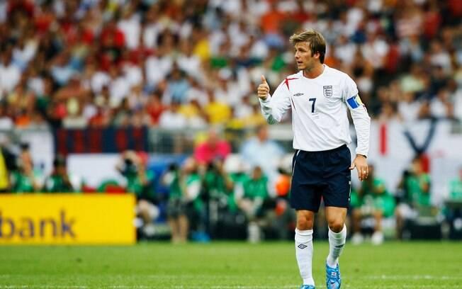 Quatro anos antes, na Copa de 2006, Beckham  carregou a braçadeira de capitão da Inglaterra