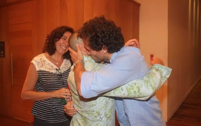 Lília Cabral e Paulo Rocham parabenizam o colega de