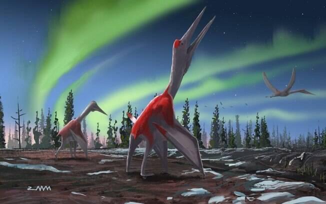 Ilustração do Cryodrakon boreas foi divulgada por pesquisador