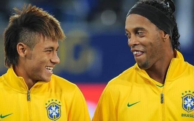 Ronaldinho apostou suas fichas em Neymar na Copa de 2018