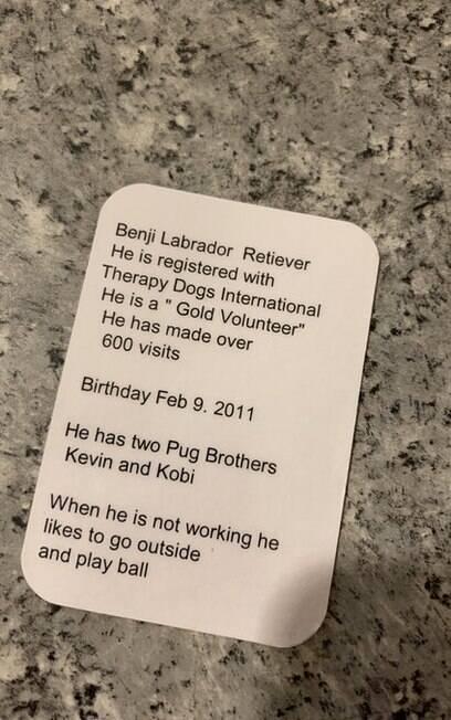 Verso de cartão de visitas