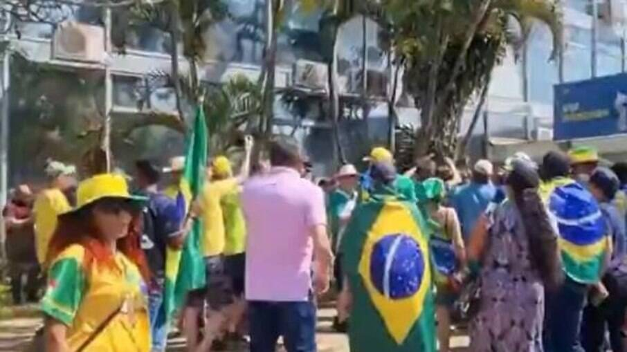 Manifestantes pró-Bolsonaro