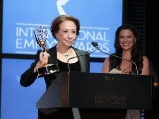 Premiada recentemente com o Emmy por seu papel na série