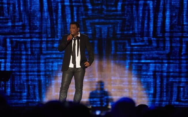 Luiz Carlos em show do Raça Negra
