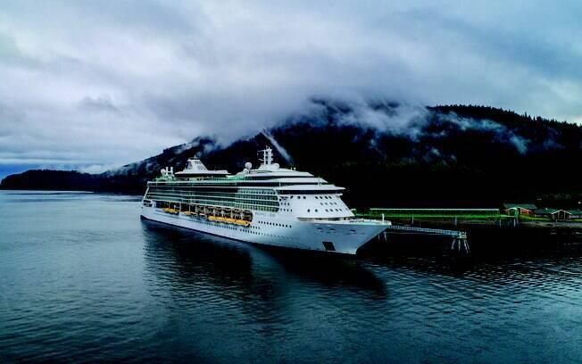 Navio Radiance of the Seas, da Royal Caribbean em viagem ao Alasca