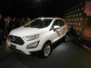 Ford EcoSport 2018 durante o evento de pré-estreia em Buenos Aires, com toda a imprensa sul-americana