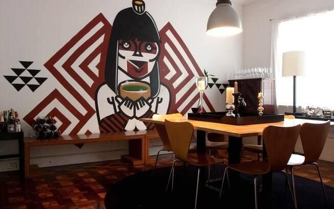 Grafite feito por Nunca para a casa da estilista Francis Petrucci