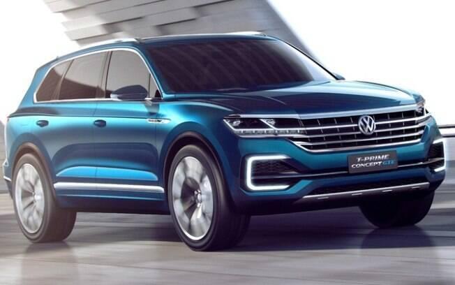 Antecipando o visual do novo Touareg, o T-Prime Concept é outro SUV que a VW apresentará no Salão de Pequim