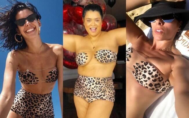 Entre as ideias de biquíni transparente está o de onça, que ficou bastante popular entre algumas celebridades brasileiras