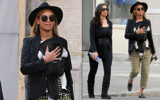 Beyoncé com a mãe Tina, e a filha Blue Ivy: passeio em família