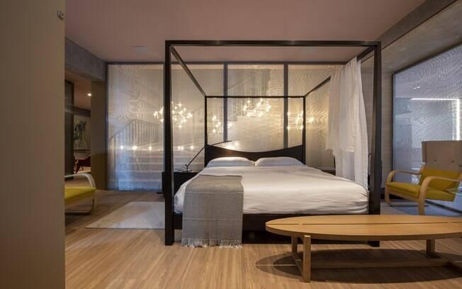 O arquiteto Pedro Lázaro usa efeito Mármore, na cor Branco Memória, para construir a decoração e dar vida ao cômodo