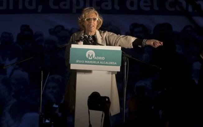 Manuela Carmena depende de uma coalizão para se tornar prefeita de Madri