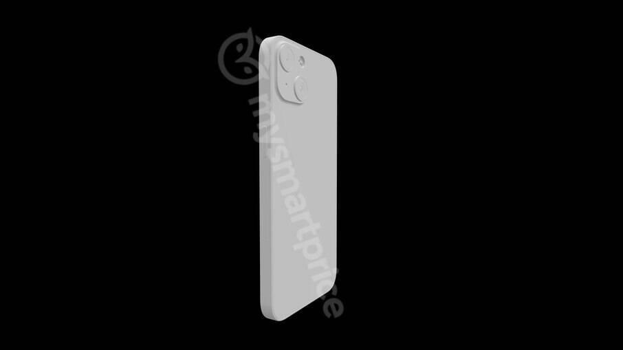 Suposto iPhone 13; parte traseira