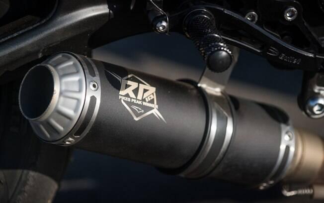 Um detalhe interessante na ponteira de escapamento da Yamaha MT-07