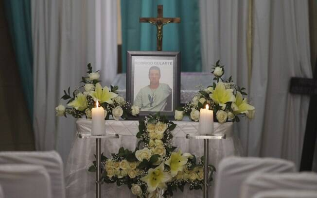 Caixão do brasileiro Rodrigo Gularte é visto em casa funerária de Jacarta, Indonésia