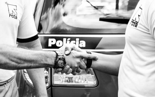 A camaradagem é uma das características mais marcantes entre os Policiais de ROTA