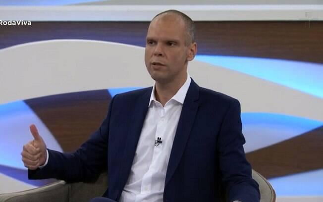 Bruno Covas (PSDB) em entrevista ao programa Roda Viva, da TV Cultura