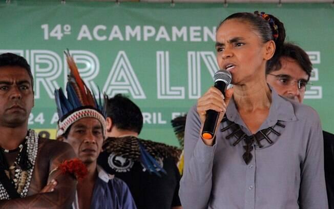 Bandeira de campanha da ex-senadora Marina Silva deverá unir desenvolvimento econômico com a defesa do meio ambiente