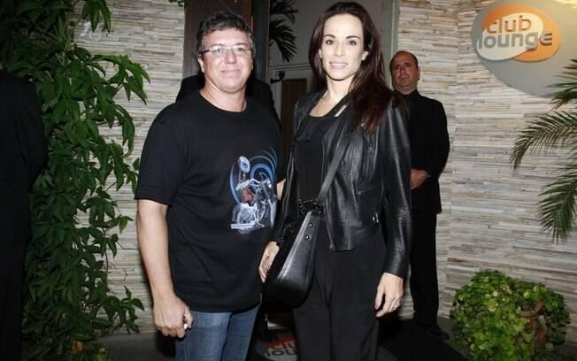 Boninho e Ana Furtado chegam à festa de encerramento do BBB12