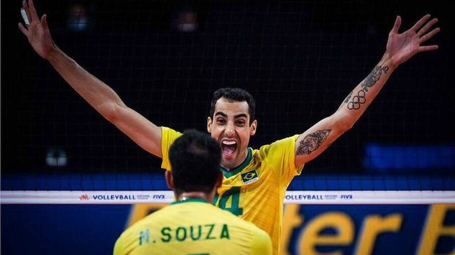 Douglas Souza foi um dos destaques do vôlei nas Olimpíadas