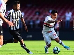 São Paulo e Atlético-MG duelaram no Morumbi