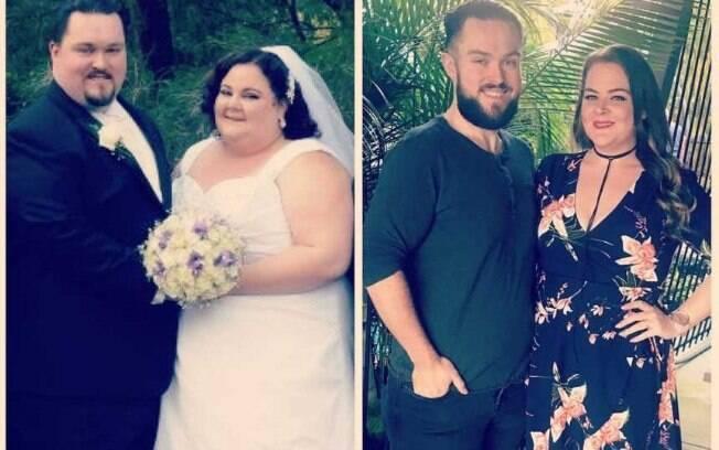 Chantelle Fleming conseguiu perder peso junto com o marido após receber uma sentença de morte da médica
