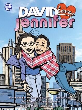 Capa da história em quadrinhos de David e Jennifer