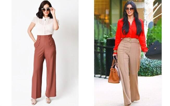 Calças e saias de cintura alta são ideais no look para entrevista de emprego