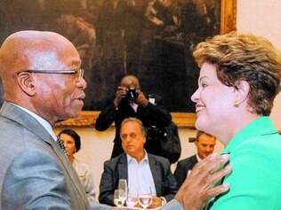 Almoço. Dilma se reuniu ontem com oito chefes de Estado