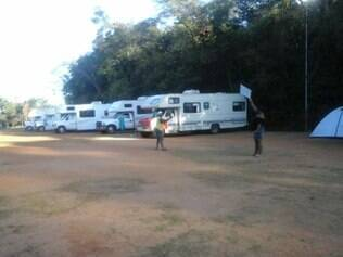 Chilenos invadiram parque Lagoa do Nado