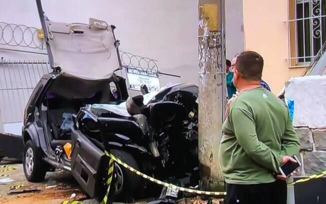 Acidente na Tijuca: homem que estava no veículo sobreviveu
