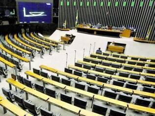 Plenário vazio da Câmara foi oficializado ontem, com as férias